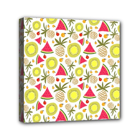 Summer Fruits Pattern Mini Canvas 6  X 6  by TastefulDesigns