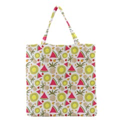 Summer Fruits Pattern Grocery Tote Bag by TastefulDesigns