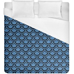 Scales2 Black Marble & Blue Colored Pencil (r) Duvet Cover (king Size) by trendistuff