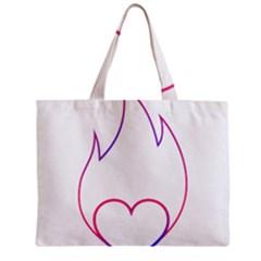 Heart Flame Logo Emblem Mini Tote Bag by Nexatart