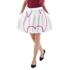 Heart Flame Logo Emblem A Line Pocket Skirt by Nexatart