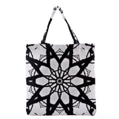 Pattern Abstract Fractal Grocery Tote Bag by Nexatart