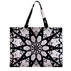 Pattern Abstract Fractal Zipper Mini Tote Bag by Nexatart