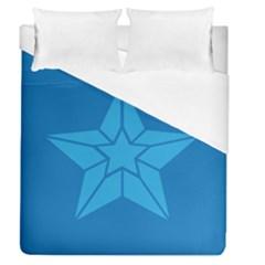 Star Design Pattern Texture Sign Duvet Cover (queen Size) by Nexatart