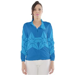Star Design Pattern Texture Sign Wind Breaker (women)