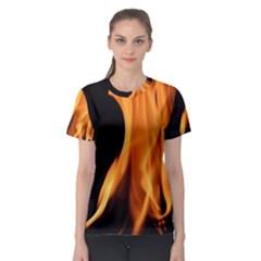 Fire Flame Pillar Of Fire Heat Women s Sport Mesh Tee by Nexatart