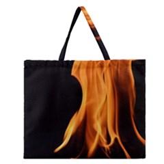 Fire Flame Pillar Of Fire Heat Zipper Large Tote Bag by Nexatart