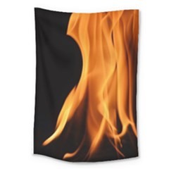 Fire Flame Pillar Of Fire Heat Large Tapestry by Nexatart