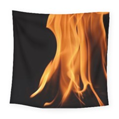 Fire Flame Pillar Of Fire Heat Square Tapestry (large) by Nexatart