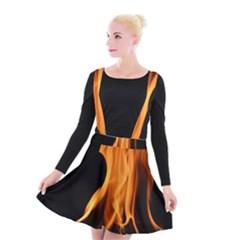 Fire Flame Pillar Of Fire Heat Suspender Skater Skirt by Nexatart