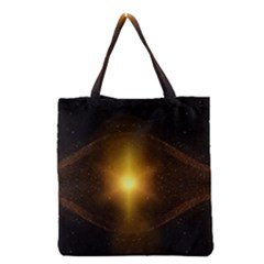 Background Christmas Star Advent Grocery Tote Bag by Nexatart