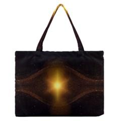 Background Christmas Star Advent Medium Zipper Tote Bag by Nexatart