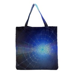Network Cobweb Networking Bill Grocery Tote Bag by Nexatart