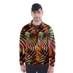 Wave Rings Circle Abstract Wind Breaker (men) by Nexatart