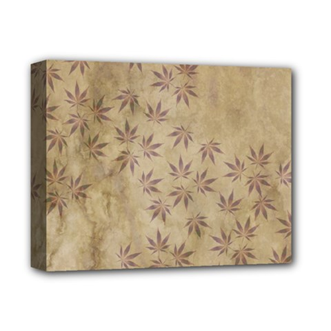 Parchment Paper Old Leaves Leaf Deluxe Canvas 14  X 11  by Nexatart