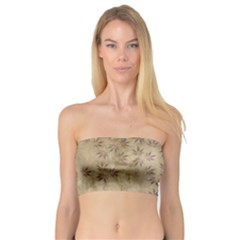 Parchment Paper Old Leaves Leaf Bandeau Top by Nexatart