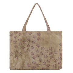 Parchment Paper Old Leaves Leaf Medium Tote Bag by Nexatart