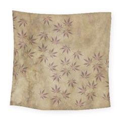 Parchment Paper Old Leaves Leaf Square Tapestry (large) by Nexatart