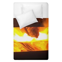Fire Rays Mystical Burn Atmosphere Duvet Cover Double Side (single Size) by Nexatart