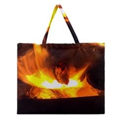 Fire Rays Mystical Burn Atmosphere Zipper Large Tote Bag