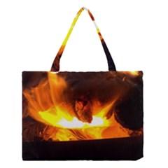 Fire Rays Mystical Burn Atmosphere Medium Tote Bag by Nexatart