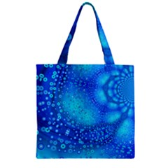 Bokeh Background Light Reflections Zipper Grocery Tote Bag by Nexatart
