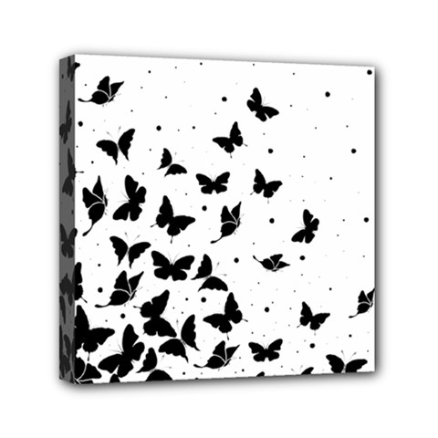 Butterfly Pattern Mini Canvas 6  X 6  by Valentinaart
