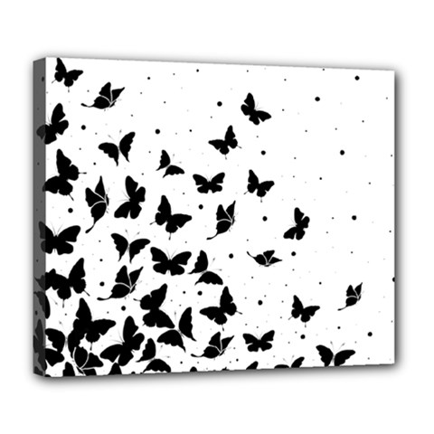Butterfly Pattern Deluxe Canvas 24  X 20   by Valentinaart