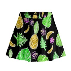 Tropical Pattern Mini Flare Skirt by Valentinaart
