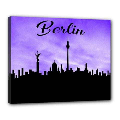 Berlin Canvas 20  X 16  by Valentinaart