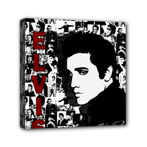 Elvis Presley Mini Canvas 6  X 6  by Valentinaart