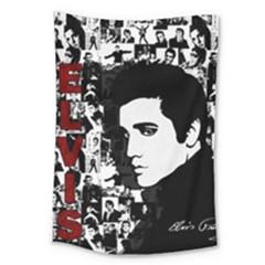 Elvis Presley Large Tapestry by Valentinaart