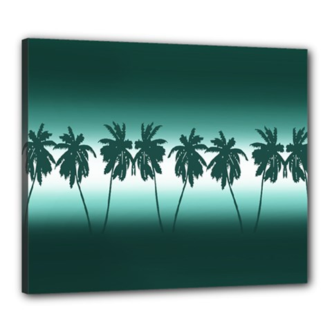 Tropical Sunset Canvas 24  X 20  by Valentinaart