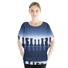 Chess Pieces Blouse by Valentinaart