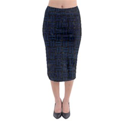 Woven1 Black Marble & Blue Grunge Midi Pencil Skirt by trendistuff
