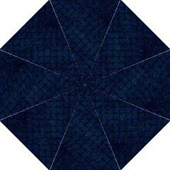 Scales1 Black Marble & Blue Grunge (r) Hook Handle Umbrella (medium) by trendistuff