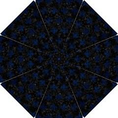 Royal1 Black Marble & Blue Grunge (r) Hook Handle Umbrella (small) by trendistuff