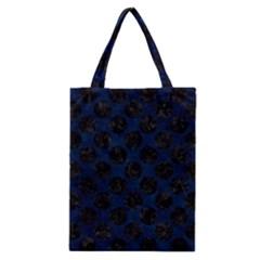 Circles2 Black Marble & Blue Grunge (r) Classic Tote Bag by trendistuff