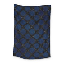 Circles2 Black Marble & Blue Grunge Small Tapestry by trendistuff