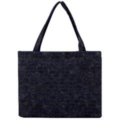 Brick1 Black Marble & Blue Grunge Mini Tote Bag by trendistuff