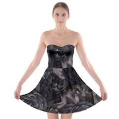 Dark Purple Roses Strapless Bra Top Dress by LovelyDesigns4U