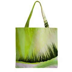 Green Background Wallpaper Texture Zipper Grocery Tote Bag by Nexatart