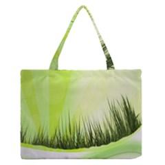 Green Background Wallpaper Texture Medium Zipper Tote Bag by Nexatart