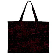 Pink Floral Pattern Background Zipper Mini Tote Bag by Nexatart