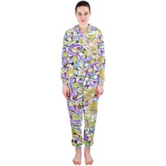 Lovely Floral 31e Hooded Jumpsuit (ladies)  by MoreColorsinLife