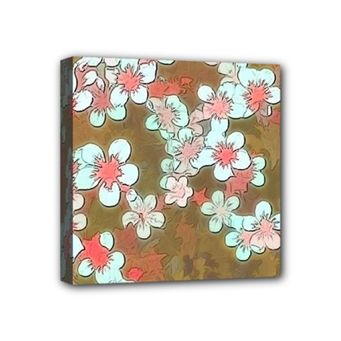 Lovely Floral 29 A Mini Canvas 4  X 4  by MoreColorsinLife