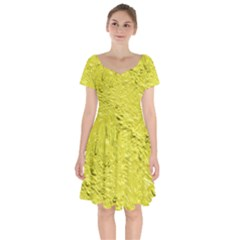Thick Wet Paint F Short Sleeve Bardot Dress