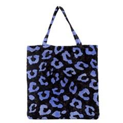 Skin5 Black Marble & Blue Watercolor (r) Grocery Tote Bag by trendistuff
