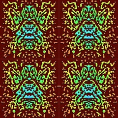 Abstract Scarab By Paysmage Fabric by PAYSMAGE