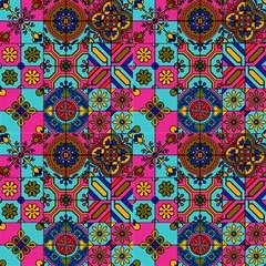Mandala Mosaic 2 Sunset By Paysmage Fabric